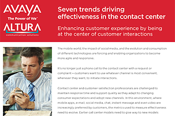 Avaya: 7 Contact Center Trends
