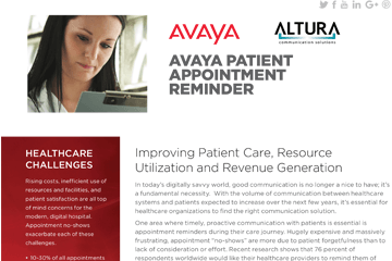 Avaya Patient Appointment Reminder
