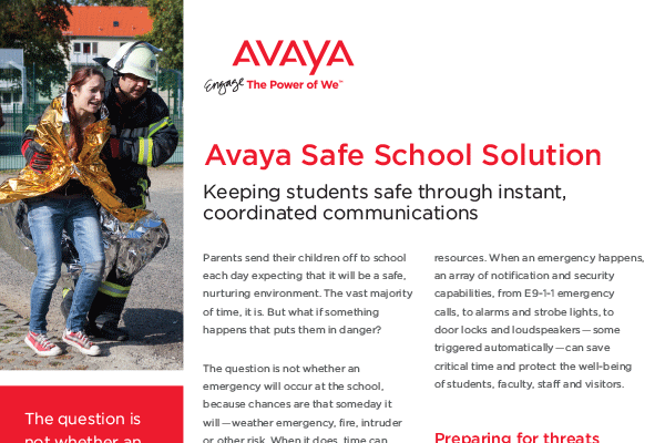 Avaya Safe School Solution