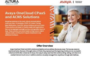Avaya OneCloud CPaaS Brochure