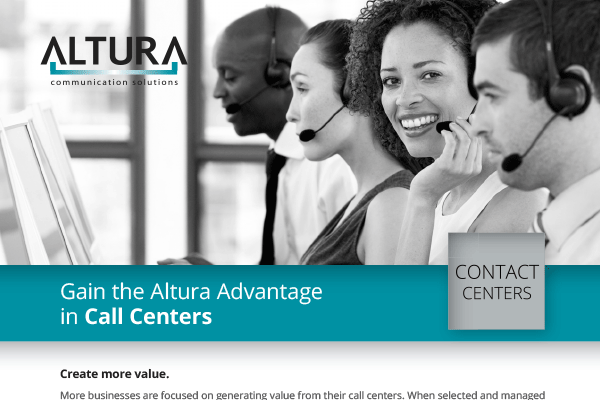 Call Centers – Gain the Altura Advantage