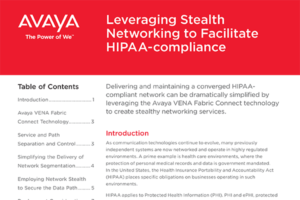 Leveraging Stealth Networking to Facilitate HIPAA compliance