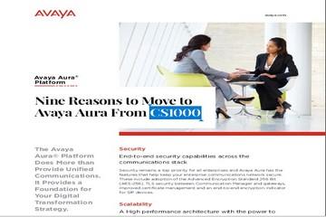 Nine Reasons to Move to Avaya Aura From CS1000