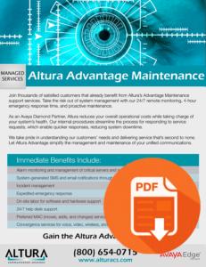 Altura Advantage Maintenance Download