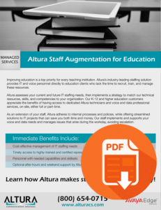 Altura Staff Augmentation for Education