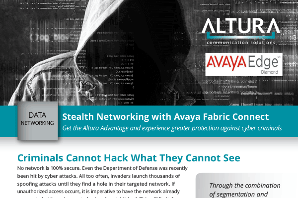Stealth Networking with Avaya Fabric Connect
