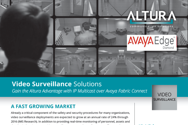 IP Video Surveillance over Avaya Fabric Connect