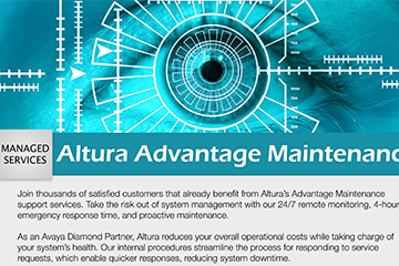Altura Advantage Maintenance