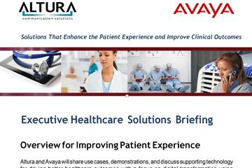 Altura and Avaya Healthcare Briefing