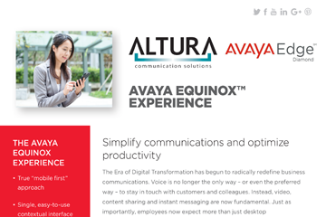 Avaya Equinox Experience